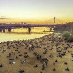 Warszawa - plaa miejska nad Wis.